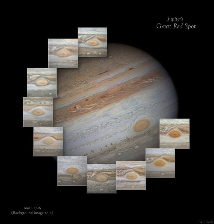 Jupiter-Evolution of GRS D.Peach